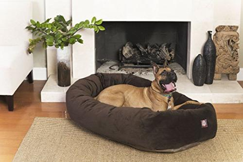 52 Chocolate Bagel Dog Bed By Majestic Pet