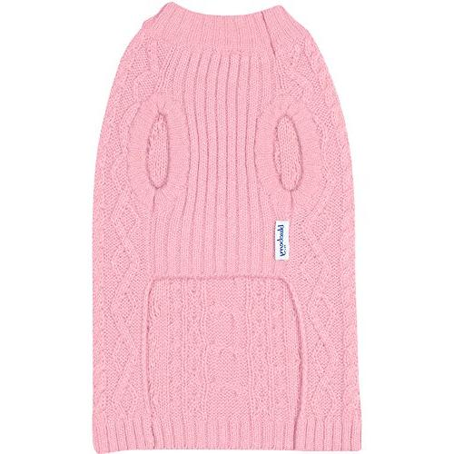 Blueberry Classic Blend Knit Pullover Dog in Muted Pink, Back Length 1 Clothes