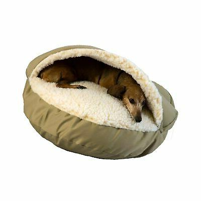 "Snoozer Cozy Cave Pet Bed size: 25""L x 25""W, Green"