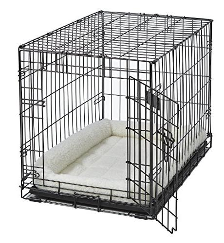 """18L-Inch Bed Bed w/ Bolster Ideal """"Toy"""" Breeds 18-Inch Dog Crate 