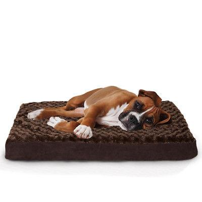 deluxe ultra plush pet orthopedic dog bed