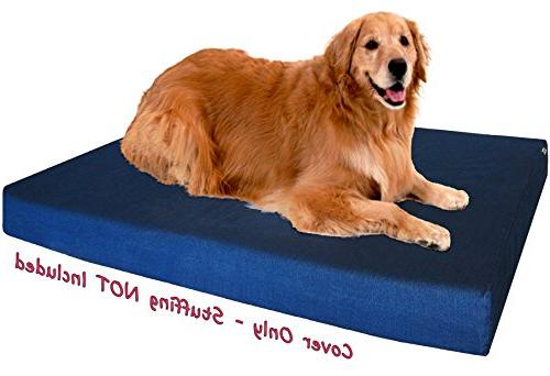 Dogbed4less DIY Durable Denim Pet Bed External Duvet Extra Dog Bed - Covers only