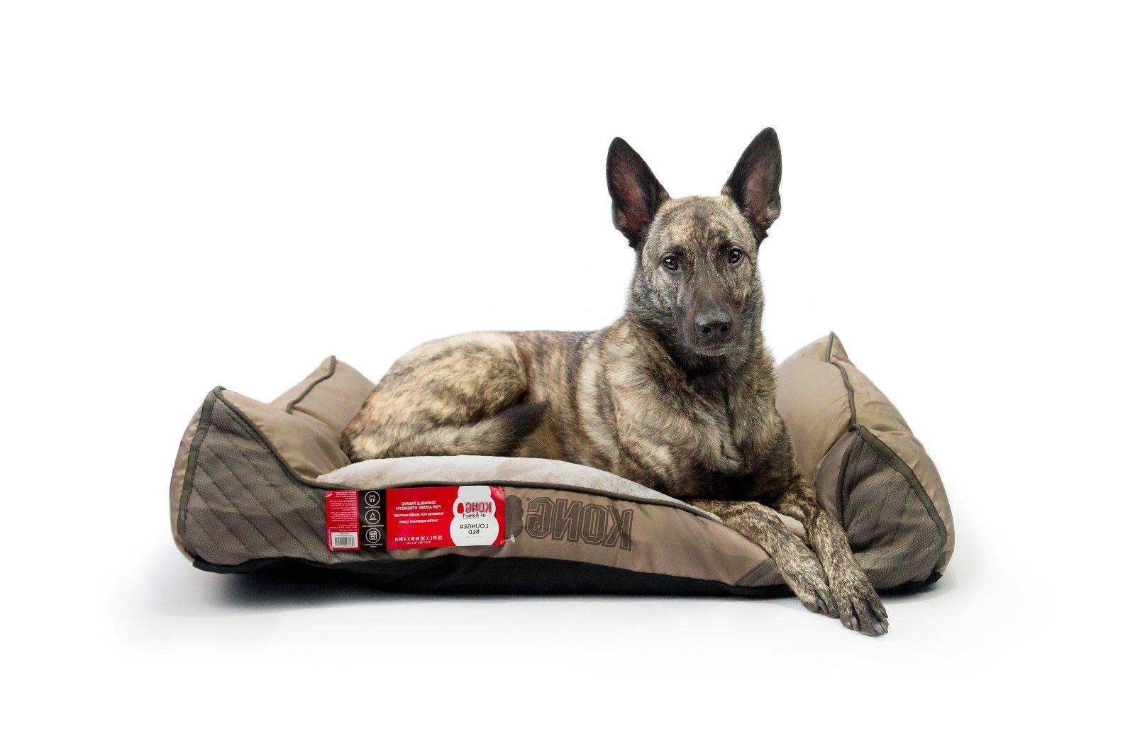 Kong Dog Bed - Khaki - Chew Resistant - Machine Washable Cov