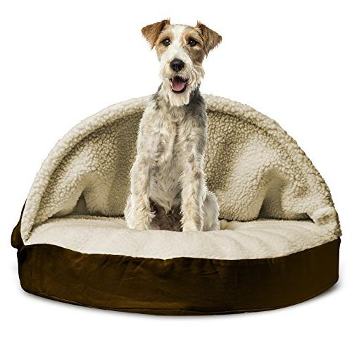 round dog snuggle bed cat