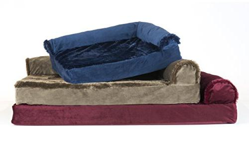 FurHaven Bed | & Velvet Couch Dogs Cats, Brown, Jumbo