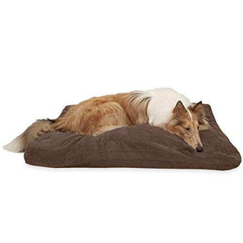 dog bed deluxe quilted suede