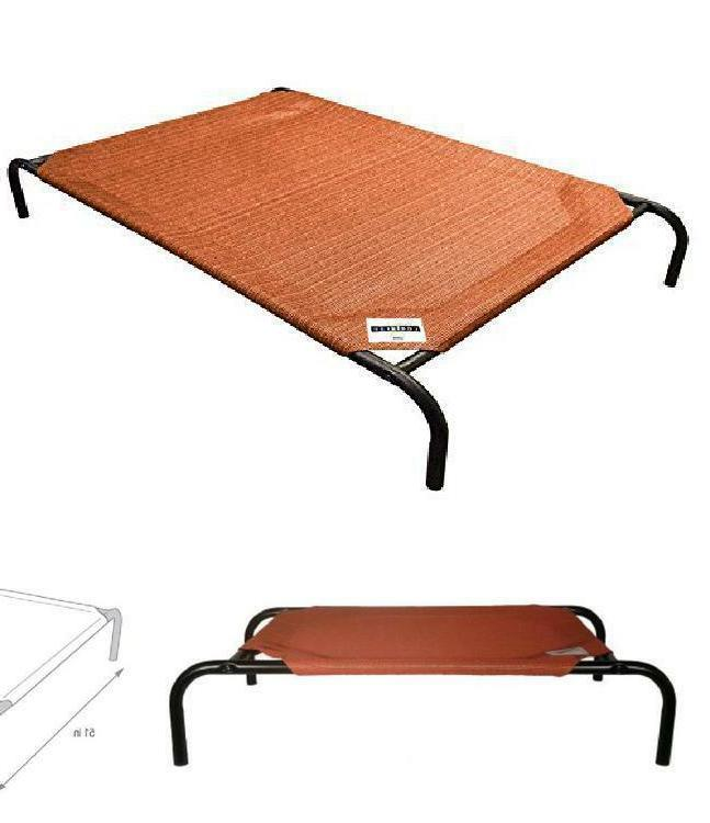 Extra Large Dog Bed Elevated Pet Cot Mat Hammock Outdoor Ind