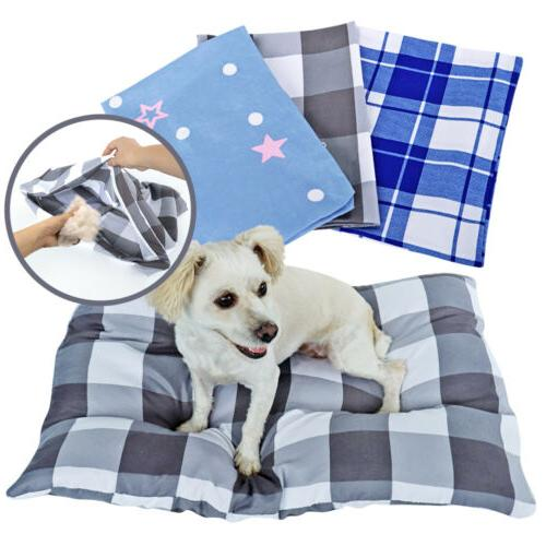 Washable Dog Bed Cover Only Medium Large Pet Zipper Cover Re