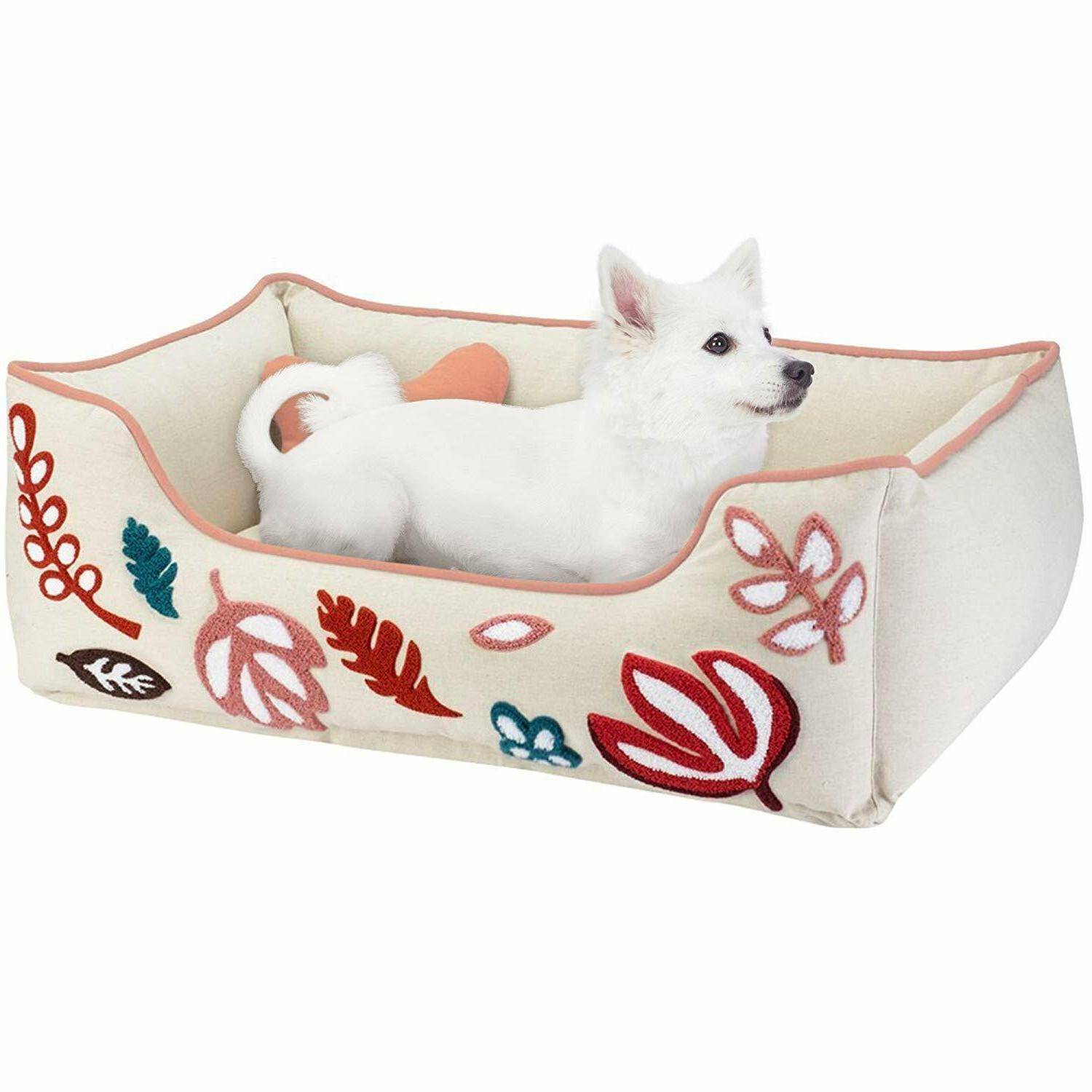 dog bed medium canvas bed pink