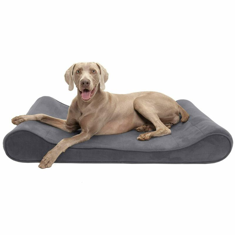 Furhaven Pet Dog Bed | Microvelvet Luxe Lounger Pet Bed For