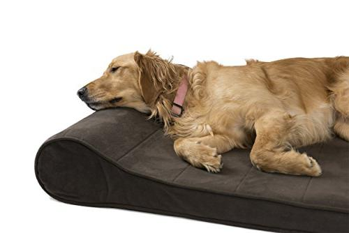 FurHaven Bed | Orthopedic Microvelvet Lounger Pet Dogs Cats, Jumbo