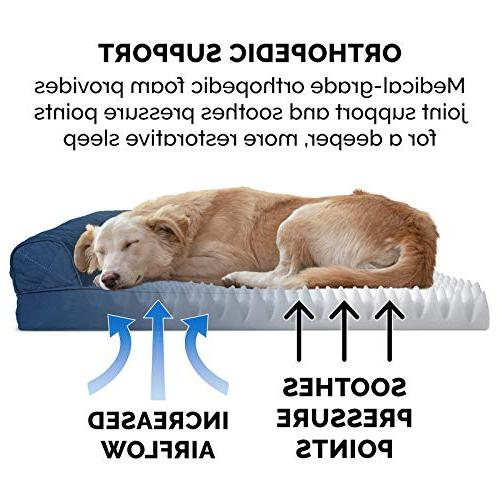 FurHaven Pet   Orthopedic Quilted Couch Dogs Jumbo