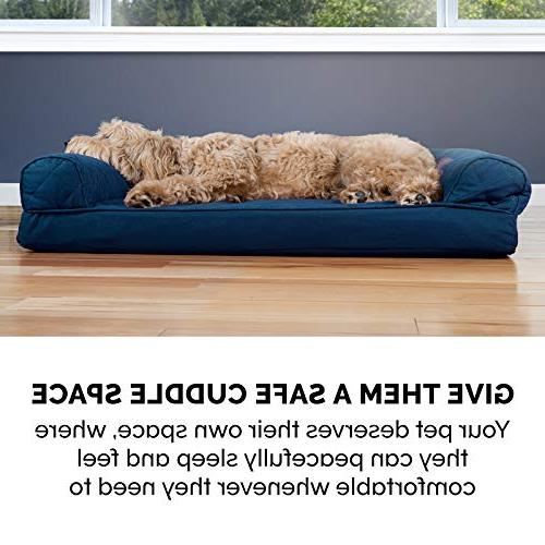 Fine Furhaven Pet Dog Bed Orthopedic Quilted Sofa Style Gmtry Best Dining Table And Chair Ideas Images Gmtryco