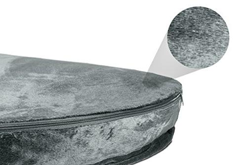 FurHaven   Round Snuggery Pet for Dogs Gray,