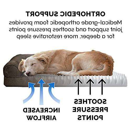 FurHaven | Ultra Sofa-Style Couch Pet Espresso, Jumbo