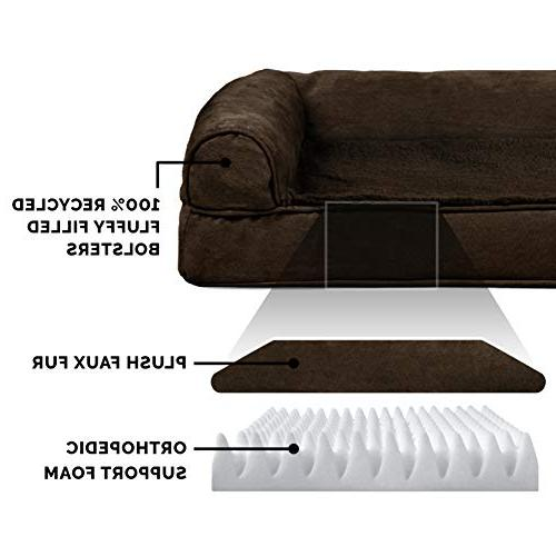 FurHaven Pet Dog | Orthopedic Ultra Plush Sofa-Style for & Espresso,