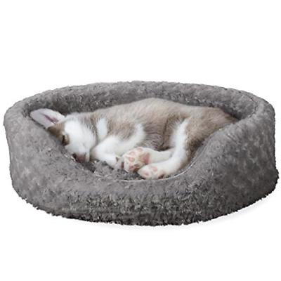 dog bed oval ultra plush pet bed