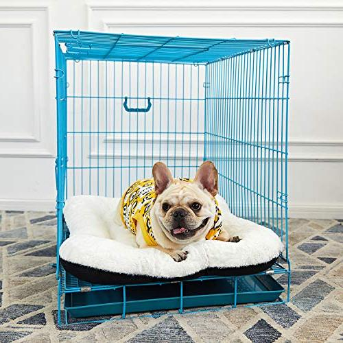 ANWA Dog Pet Cushion Bed Crate Bed Cozy for Medium