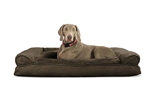 dog bed plush suede pillow