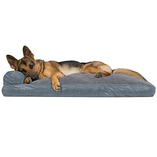 dog bed quilted fleece print