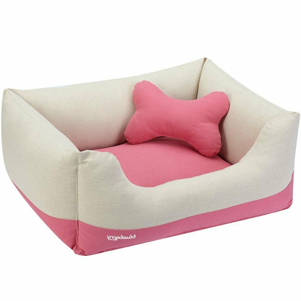 dog bed small canvas bed baby pink