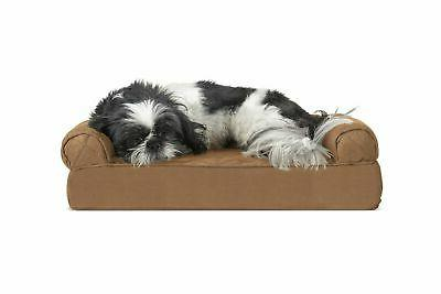 FurHaven Pet Dog Bed Sofa-Style Couch Pet Bed for Dogs & Cat
