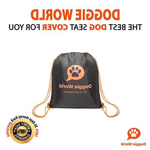 Doggie World Seat - Cars, and Suvs Luxury w/Extra Side Flaps, for Pet - Waterproof, Machine Washable