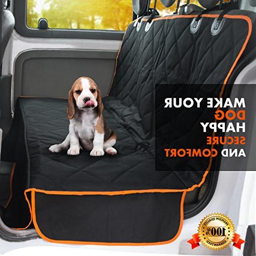 Doggie Seat Cover - XL Cars, and Luxury Side Openings for Your Pet Waterproof, Non-Slip -