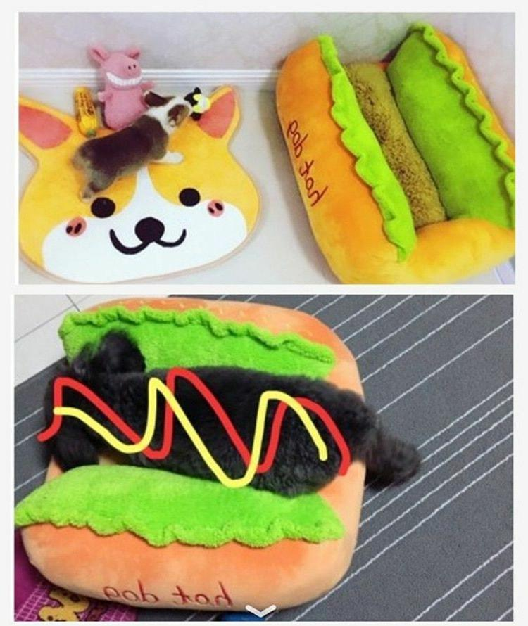 Dog House Cat Toy Hot Dog Various Size Large Home For Pet