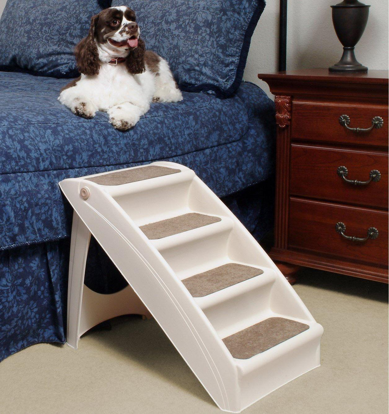 Dog Folding Stairs for Dogs Stairs Tall Bed Car..