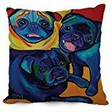 18 X 18 Inches / 45 By 45 Cm Dog Art Throw Pillow Covers,twi