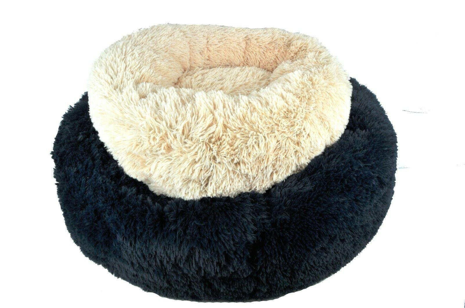 donut dog bed cozy poof style giant