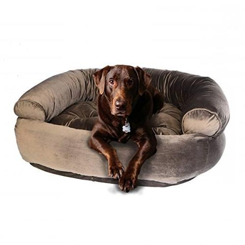 double donut dog bed