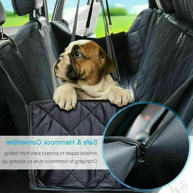 Durable Dog Car Cover Back Rear Bench Hammock for