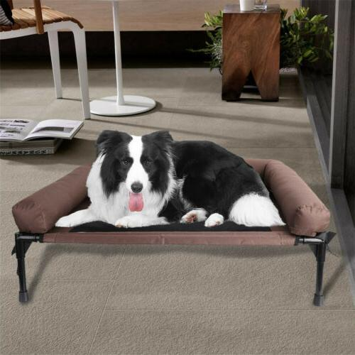 Elevated Dog Bed Sleep Pet Raised Cot for Outdoor