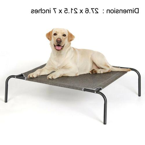 elevated dog bed lounger sleep pet cat