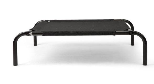 Elevated Dog Bed with Black Textilene® Mesh Fabric & 6 Stee