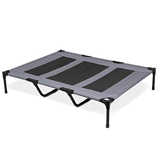 AikoPets for Large Cot Indoor Outdoor Camping Steel Frame 48 36 inch