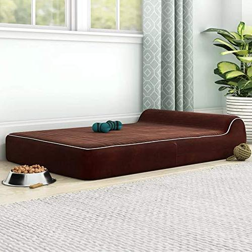 JUMBO XL Size Foam - - INCLUDES Waterproof Liner Removable, Suede Cover Anti Slip Bottom Brown