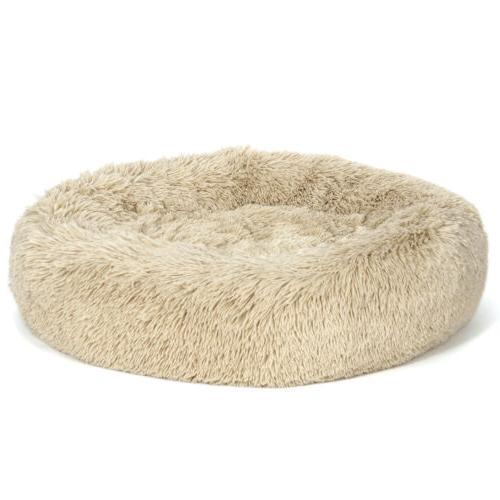 Faux Fur Dog Round Pillow for Medium Small Washable