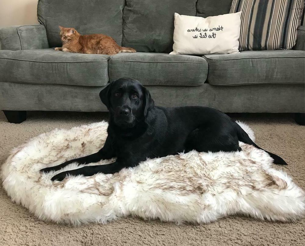 faux fur orthopedic dog bed support ultra