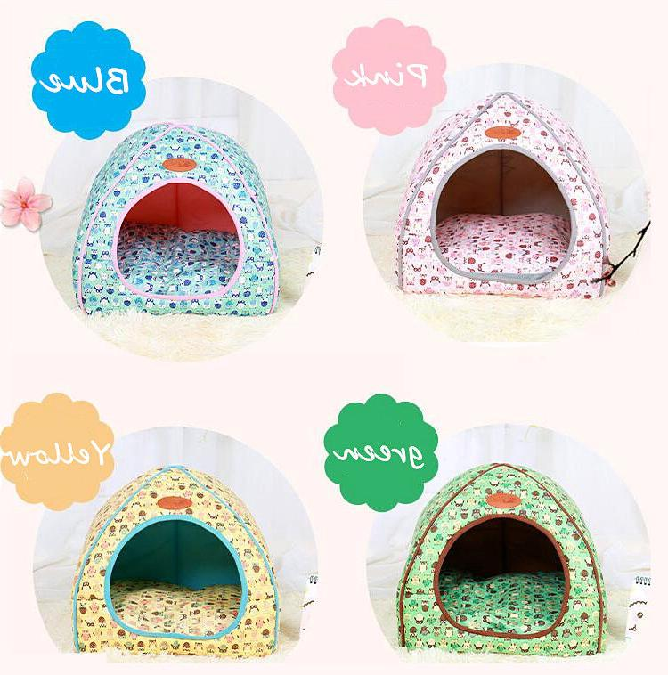 Foldable Cat Tent House Warm Dog Bed Non-slip Cute