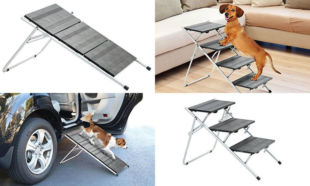 Folding Pet Steps/Ramp Dog Cat Bed Portable Travel Car
