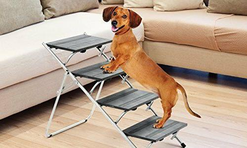 Folding Pet Dog Cat Stairs Portable Steps Car