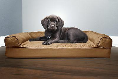 FurHaven Small Sofa Pet Bed Dogs Brown