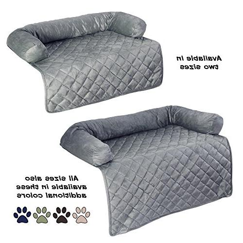 Furniture Protector for Cats filled 3-Sided Soft Plush – Gray