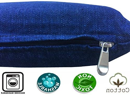 Dogbed4less Gel Cooling Foam Dog Bed for Waterproof Internal Cover, Blue 45X27X3 Inches