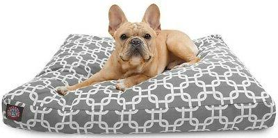 gray links small rectangle pet dog bed