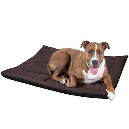 Heated Dog Large Dogs & Pet Bed - for Medium to XL Pets Cage or Kennel, Waterproof Warm Sleeping