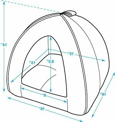 High Quality Tent Cave Bed for and Dogs Machine Washable